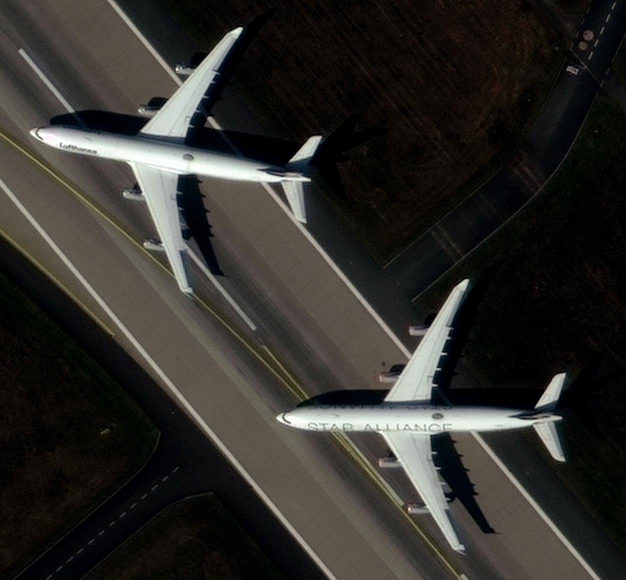 Image of two planes with 30cm resolution